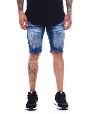Shorts - Moto Stretch Denim Short - Medium Blue-2365605