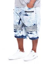 Men - Denim Short Moto + Zipper (B&T)-2365741