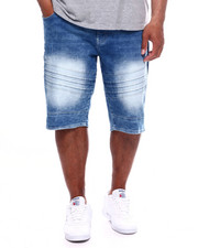 Shorts - Moto Pin-Tuck Detailed Biker Short (B&T)-2363860