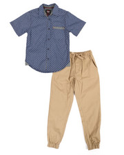 Boys - All Over Print Woven & Twill Jogger Set (8-20)-2357560