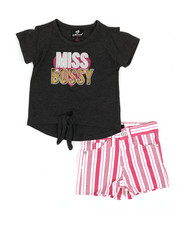 Girls - 2 Pc Tee & Shorts Set (2T-4T)-2361207