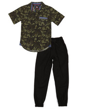 Boys - All Over Print Woven & Twill Jogger Set (8-20)-2357582
