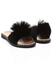 Footwear - Pom Pom Slide Sandals-2365851
