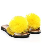 Footwear - Pom Pom Slide Sandals-2365869