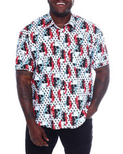 Button-downs - S/S Cotton Printed Woven (B&T)-2366043