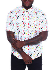Button-downs - S/S Cotton Printed Woven (B&T-2365665