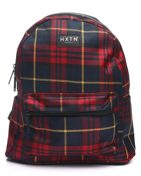 HXTN Supply - Burgundy Check Backpack