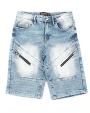 Sizes 8-20 - Big Kids - Front Zipper Detailed Denim Shorts (8-20)-2366684