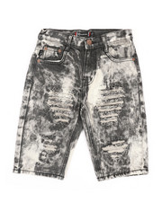 Sizes 8-20 - Big Kids - Ripped Denim Shorts (8-20)-2366721