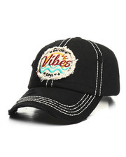 Men - Good Vibes Only Vintage Ball Cap-2365358