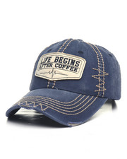 Men - Life Begins After Coffee Vintage Ball Cap-2365366