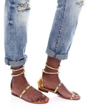 Footwear - Flat Snake Sandals-2363674
