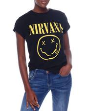 Graphix Gallery - Nirvana Logo S/S Oversized Tee-2367017