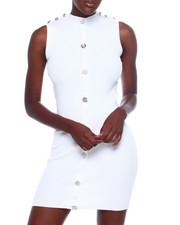 Dresses - S/L Faux Snap Front Dress-2366212
