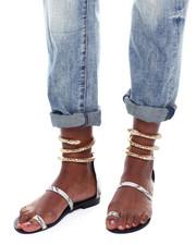 Footwear - Flat Snake Sandals-2363665