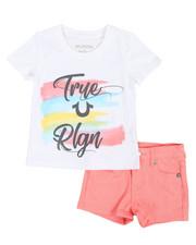Girls - 2 Piece HS Tee & Denim Shorts Set (4-6X)-2366754