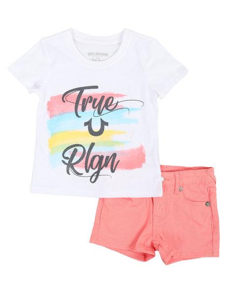 True Religion - 2 Piece HS Tee & Denim Shorts Set (4-6X)