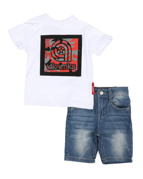 Akademiks - 2 Pc Tee & Denim Shorts Set (2T-4T)