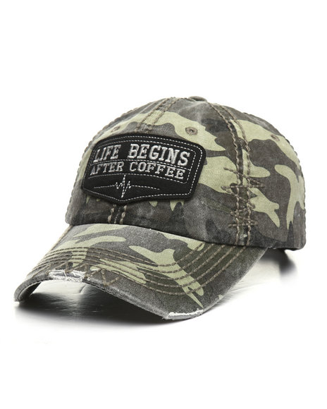 Buyers Picks - Life Begins After Coffee Vintage Ball Cap