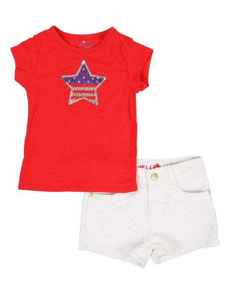 Delia's Girl - 2 Pc Americana Tee & Shorts Set (4-6X)