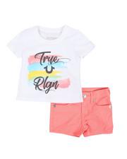 True Religion - 2 Piece HS Tee & Denim Shorts Set (2T-4T)-2366750