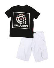 Akademiks - 2 Pc Tee & Twill Cargo Shorts Set (4-7)-2366788
