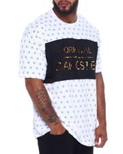 Shirts - Original Gangster Embossed Foil Short Sleeve T-Shirt  (B&T)-2367115