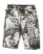 Sizes 8-20 - Big Kids - Ripped Denim Shorts (8-20)-2367064