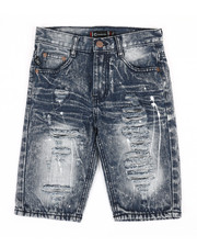 Sizes 8-20 - Big Kids - Ripped Denim Shorts (8-20)-2367211
