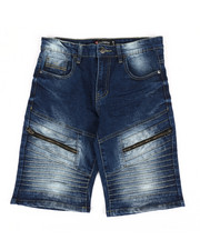 Sizes 8-20 - Big Kids - Stretch Biker Stretch Denim Shorts (8-20)-2367714