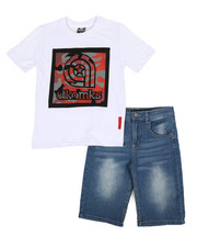 Sizes 8-20 - Big Kids - 2 Pc Tee & Denim Shorts Set (8-20)-2366802