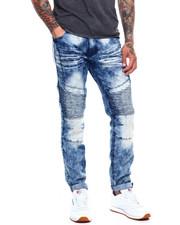 Jeans & Pants - STRETCH MOTO FADED BLUE WASH JEAN-2368131