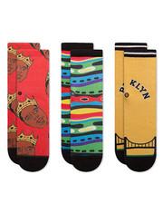 DRJ SOCK SHOP - 3 Pack Biggie Socks (2-4 Years)-2368204