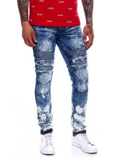 Jeans & Pants - DISTRESSED CUT AND SEW STRETCH MOTO JEAN-2368242