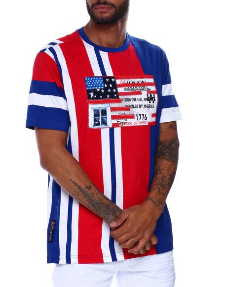 Heritage America - STRIPE FLAG TEE