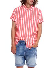 Calvin Klein - TRI BLOCK LOGO STRIPE WOVEN SS SHIRT-2369240