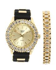 Accessories - Cuban Link Bracelet & Watch Set-2367859