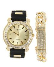Accessories - Iced Bracelet & Watch Set-2367897