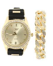Accessories - Cuban Link Bracelet & Watch Set-2367831