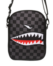 Trophies - Checker Shark Mouth Shoulder Bag (Unisex)-2368952
