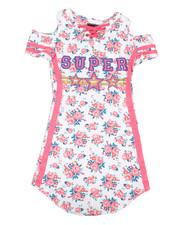 Girls - Printed Dress W/ Cold Shoulders (7-16)-2368765