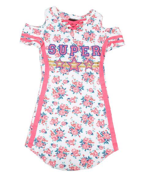 La Galleria - Printed Dress W/ Cold Shoulders (7-16)