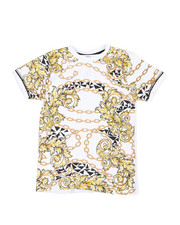 Sizes 8-20 - Big Kids - Chains Print Tee (8-20)-2368826