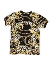 Sizes 8-20 - Big Kids - Chains Print Tee (8-20)-2368816