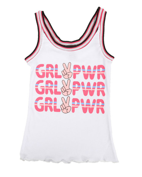La Galleria - Ribbed Tank W/ Glitter Taping (7-16)
