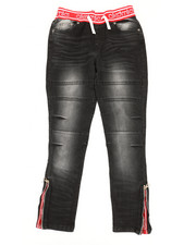 Sizes 8-20 - Big Kids - Pull On Denim Jeans (8-20)-2367974