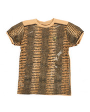Sizes 8-20 - Big Kids - Faux Snake Skin Print Tee (8-20)-2368851