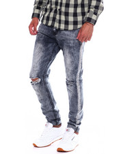 Buyers Picks - BLOWN OUT KNEE JEAN WITH DISTRESSED SEAM-2370709