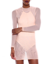 Women - L/S Mesh Mini Dress-2366220