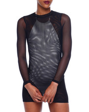 Women - L/S Mesh Mini Dress-2366216